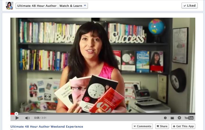 48 hour author facebook screen grab - Video Marketing Testimonial