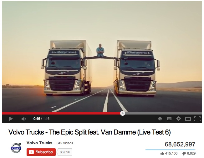 Telling Your Story with Video  - Video Example - Volvo Epic Split