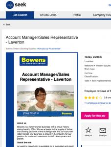Video Experts SEEK Recruitment video sample - Bowens